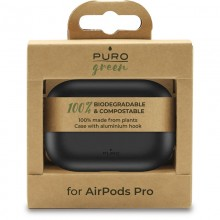 PURO Green Compostable Eco-friendly Cover - Ekologiczne etui Airpods Pro (czarny)