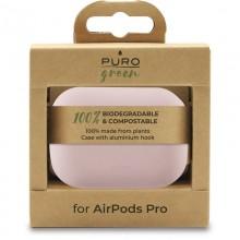 PURO Green Compostable Eco-friendly Cover - Ekologiczne etui Airpods Pro (piaskowy róż)