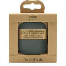 PURO Green Compostable Eco-friendly Cover - Ekologiczne etui Apple AirPods 1&2 (zielony)