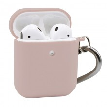 PURO Green Compostable Eco-friendly Cover - Ekologiczne etui Apple AirPods 1&2 (piaskowy róż)