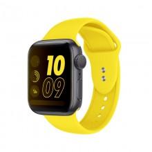 Crong Liquid - Pasek do Apple Watch 38/40 mm (żółty)