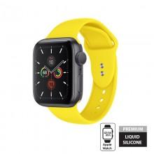 Crong Liquid - Pasek do Apple Watch 42/44 mm (żółty)