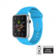 Crong Liquid - Pasek do Apple Watch 38/40 mm (niebieski)