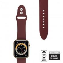 Crong Liquid - Pasek do Apple Watch 42/44 mm (bordowy)
