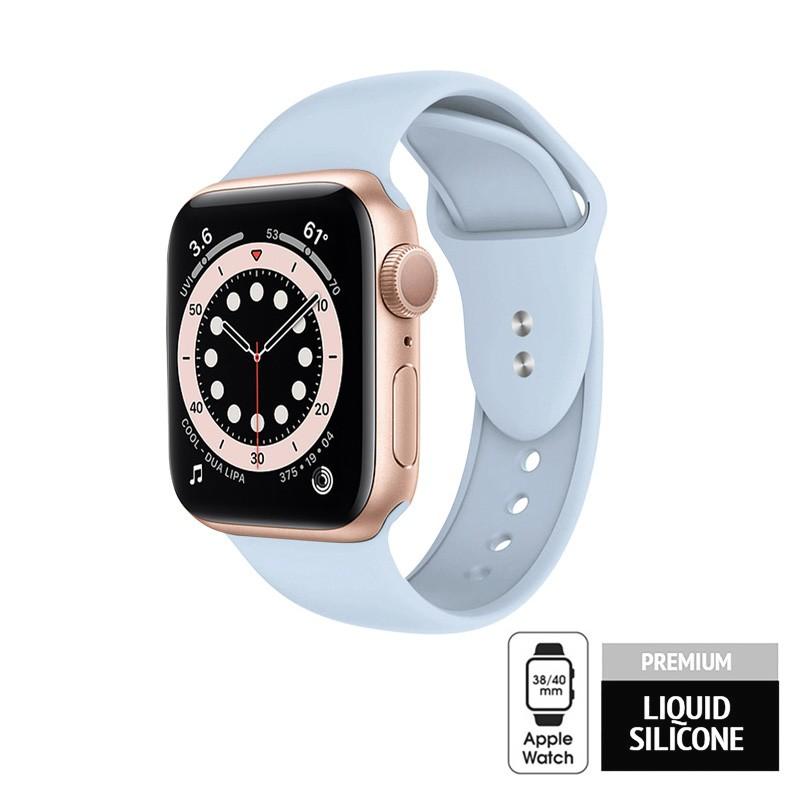 Crong Liquid - Pasek do Apple Watch 38/40mm (błękitny)