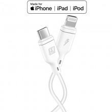 Momax Zero - Kabel połączeniowy USB-C (Power Delivery Fast Charging 3A) na Lightning MFi 1.2 m (White)
