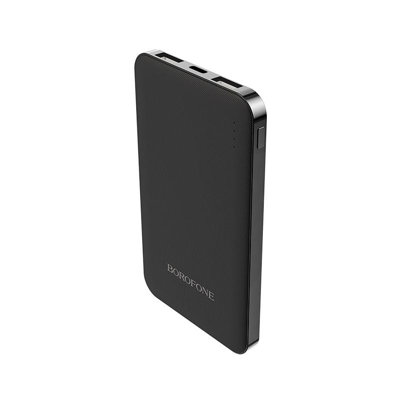 Borofone - power bank 4 000 mAh 14.8 Wh slim, czarny