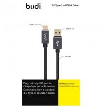 Budi - Kabel USB-A - USB-C, pozłacane wtyki, transfer do 5GB/s, 1,2 m (Czarny)