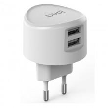 Budi - Ładowarka sieciowa 2x USB, 12W (Biały)