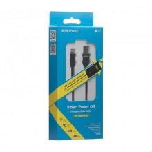 Borofone Starlight - kabel połączeniowy USB do Lightning 1.2 m (czarny)