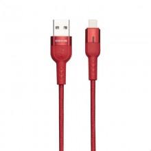 Borofone Starlight - kabel połączeniowy USB do Lightning 1.2 m (czerwony)