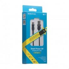 Borofone Starlight - kabel połączeniowy USB do USB-C 1.2 m (czarny)