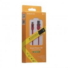 Borofone Starlight - kabel połączeniowy USB do USB-C 1.2 m (czerwony)