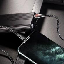 Borofone Highway - kabel połączeniowy USB do Lightning 1.2 m (czarny/szary)