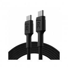 Green Cell PowerStream - Kabel Przewód USB-C - USB-C 200cm z obsługą Power Delivery (60W), 480 Mbps, Ultra Charge, QC 3.0