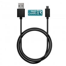 PURO Plain Cable – Kabel połączeniowy USB na Micro USB, 1A, 1 m (czarny)