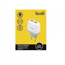 Budi - Kompaktowa ładowarka sieciowa 2x USB, 12W (Biały)