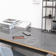 Borofone Silicone - kabel połączeniowy USB do Lightning 1m (biały)