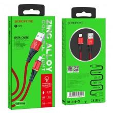 Borofone Glory - kabel połączeniowy USB do Lightning (czerwony)