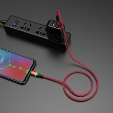 Borofone Glory - kabel połączeniowy USB do microUSB (czerwony)