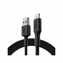 Green Cell PowerStream - Kabel Przewód USB-A - Lightning 120cm szybkie ładowanie Apple 2.4A