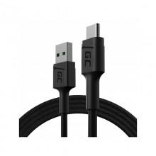 Green Cell PowerStream - Kabel Przewód USB-A - USB-C 120cm szybkie ładowanie Ultra Charge, QC 3.0
