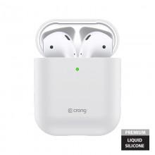 Crong Liquid Case - Etui Apple AirPods 1&2 generacji (biały)