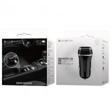 Borofone - ładowarka samochodowa 2x USB, czarny