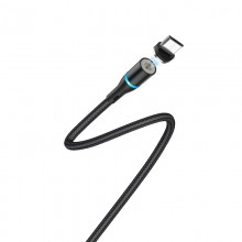 Borofone - Kabel USB-A do microUSB z magnetyczną końcówką i podświetleniem, 1,2 m (Czarny)