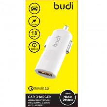 Budi - Ładowarka samochodowa USB, 18W, QC3.0 (Biały)