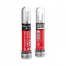 Borofone - Kabel USB-A do Lightning zapakowany w tubę, 1 m (Biały)