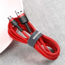Baseus Cafule Cable - Dwustronny kabel połączeniowy micro USB na USB QC 3.0, 2.4 A, 1 m (czerwony)