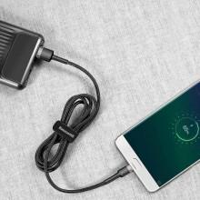 Baseus Cafule Cable - Dwustronny kabel połączeniowy micro USB na USB QC 3.0, 2.4 A, 1 m (szary/czarny)