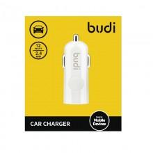 Budi - Ładowarka samochodowa USB (Biały)
