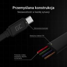Green Cell GCmatte - Kabel Przewód Micro USB 25 cm z obsługą szybkiego ładowania