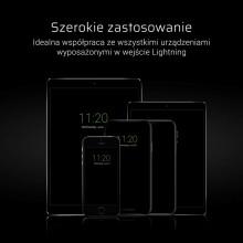 Green Cell GCmatte - Kabel Przewód Lightning 25 cm z obsługą szybkiego ładowania Apple 2.4A