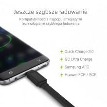 Green Cell GCmatte - Kabel Przewód USB-C 25 cm z obsługą szybkiego ładowania