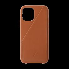 Native Union Card - skórzana obudowa ochronna do iPhone 12 mini z kieszenią na kartę (tan)