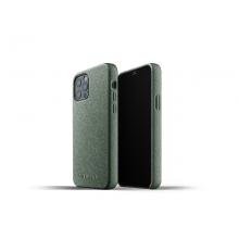 Mujjo Full Leather Case - etui skórzane do iPhone 12/12 Pro (zielone)
