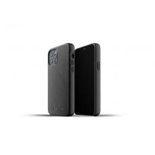 Mujjo Full Leather Case - etui skórzane do iPhone 12/12 Pro (czarne)