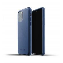 Mujjo Full Leather Case - etui skórzane do iPhone 11 Pro (niebieskie)