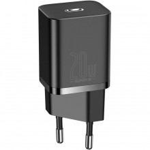 BASEUS SUPER SI NETWORK CHARGER PD20W + LIGHTNING CABLE BLACK