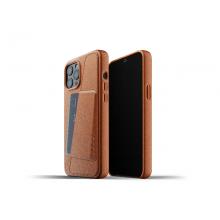 Mujjo Full Leather Wallet Case - etui skórzane do iPhone 12 Pro Max (brązowe)