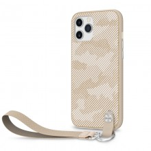 Moshi Altra - Etui z odpinaną smyczką iPhone 12 Pro Max (system SnapTo) (Sahara Beige)