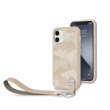 Moshi Altra - Etui z odpinaną smyczką iPhone 12 Mini (system SnapTo) (Sahara Beige)