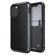 X-Doria Defense Lux - Etui aluminiowe iPhone 11 Pro (Drop test 3m) (Black Carbon Fiber)