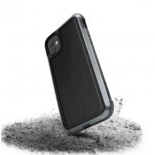 X-Doria Defense Lux - Etui aluminiowe iPhone 11 (Drop test 3m) (Black Leather)