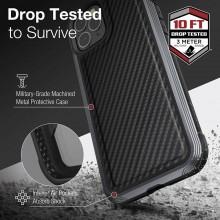X-Doria Raptic Lux - Etui aluminiowe iPhone 12 Pro Max (Drop test 3m) (Black Carbon Fiber)