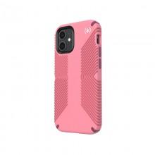 Speck Presidio2 Grip - Etui iPhone 12 Mini z powłoką MICROBAN (Vintage Rose/Royal Pink)
