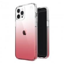 Speck Presidio Perfect-Clear + Ombre - Etui iPhone 12 Pro Max z powłoką MICROBAN (Clear/ Vintage Rose)